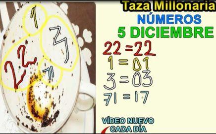 LA TAZA MILLONARIA NUMEROS PARA HOY 5/12/17 DICIEMBRE TODAS LAS LOTERIAS