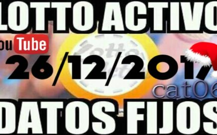 LOTTO ACTIVO DATOS FIJOS PARA GANAR  26/12/2017 cat06