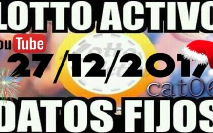 LOTTO ACTIVO DATOS FIJOS PARA GANAR  27/12/2017 cat06