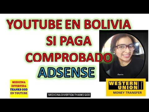 MI PRIMER PAGO DE YOUTUBE BOLIVIA