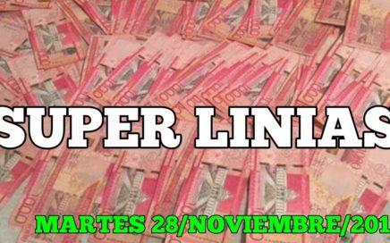 SUPER LINIAS PARA HOY MARTES 28/11/2017 BINGO ,PALE SEGURO