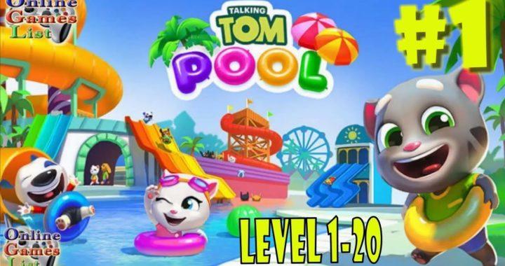 Talking Tom Pool Level 1-20 Walkthrough Gameplay #1