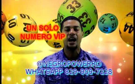 UN SOLO NUMERO  PARA HOY 29 Diciembre 2017, El Rompe Banca Negro Power Rd. Ganar dinero dolares