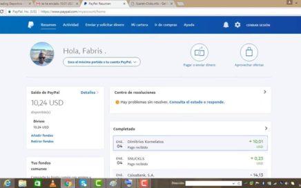 $10,00 DÓLARES PAGO A PAYPAL 04 ENERO 2018 - PÁGINA PAGANDO