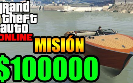 $100000 en minutos Dinero rápido Misión Barco Gameplay GTA 5 Online Funny Momments GTA V PS4