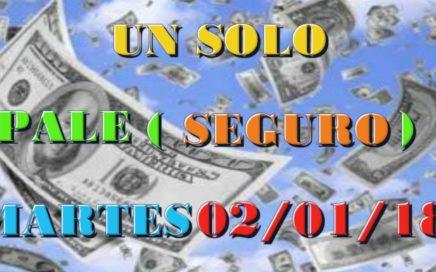 2/ENERO/2018 - (1) UN SOLO PALE SEGURO | (1) UNA SOLA TRIPLETA |GANAR LA LOTERIA,NUMEROS MILLONARIOS