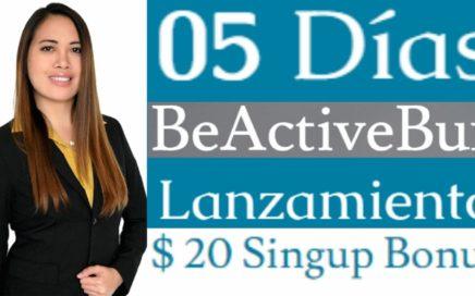 BEACTIVEBUX - $20.00 DÓLARES DE BONUS POR REGISTRARTE PRELANZAMIENTO - NUEVA PÁGINA