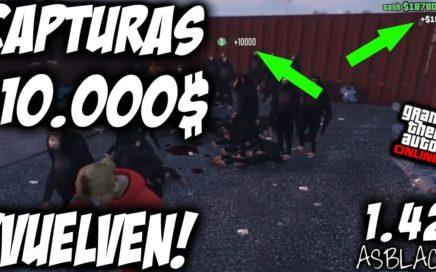 CAPTURA 10.000$ - 10K CAPTURE - VUELVEN - GTA 5 - (Video cedido LispyLeaf) - DINERO INFINITO MASIVO