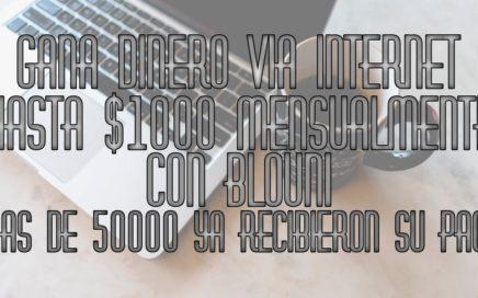 Como ganar dinero en internet registro en blouni