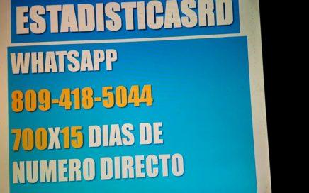 ESTADÍSTICASRD ES UN CANAL DE PROBABILIDAD NUMÉRICA PARA GANAR DINERO EN LOTERÍA MEMBRESÍA 700X15
