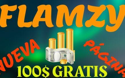 GANA 100$ GRATIS POR PAYPAL CON Flamzy ( Nueva página  De los mismos creadores de  Snuckls, Skylom)