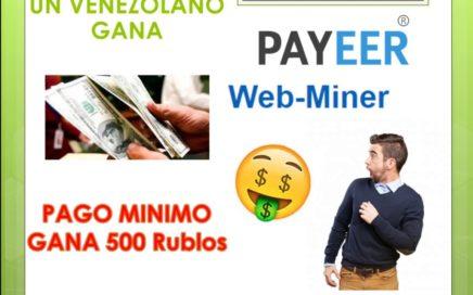 GANA 500 RUBLOS A PAYEER CON ESTA MINERIA | COBRANDO 1.64$ SPARE5