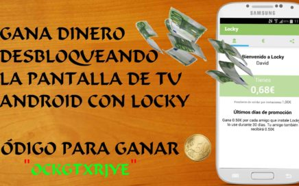 Gana dinero desbloqueando la pantalla de tu teléfono android con LOCKY (CLOSED)