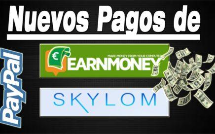Gana Dinero Gratis a Paypal 2018 | Pruebas de Pago de Earn Money y Skylom | Gokustian