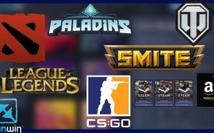 Gana dinero y Premios Gamer gratis jugando LoL, DOTA 2, CS:GO, World of Tanks, Paladins y Más|PWNWIN