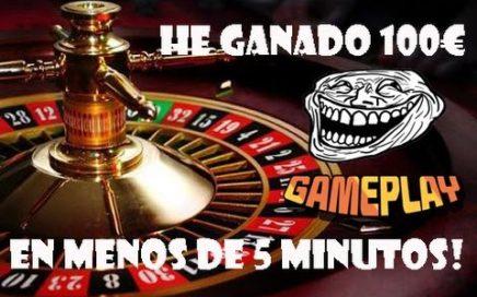 Ganar 100€ En La Ruleta En 5 Minutos | GAMEPLAY | TRICKASINO | 2017 - 2018