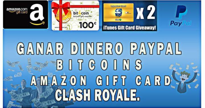 GANAR DINERO PAYPAL, BITCOINS, AMAZON GIFT,  20$ POR SEMANA  ll GIFT CARD