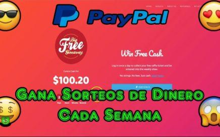 Ganar Sorteos Semanales de Dinero a Tu Paypal   Big Free GiveAway Registro y Explicacion Completa