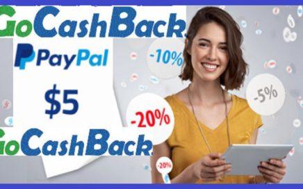 GOCASHBACK REGALA 5$ DÓLARES GRATIS A PAYPAL POR REGISTRO
