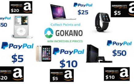 GOKANO GANA 5$ USD y 50$ USD a PAYPAL y AMAZON GRATIS 2018