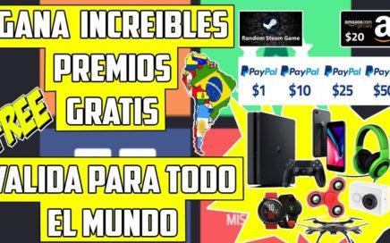 Gokano Gana Increibles Premios Gratis Gana de 1$ a 50$ a Paypal, Amazón valida para todo el Mundo