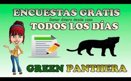 GreenPanthera, Ganar Dinero con Encuestas a Diario | 5$ GRATIS
