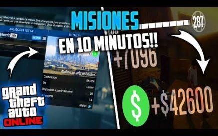 GTA 5 ONLINE GANA MUCHO DINERO Y RP HACIENDO MISIONES!! LEGAL *1.42* PC ONE PS4