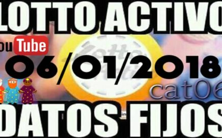 LOTTO ACTIVO DATOS FIJOS PARA GANAR  06/01/2018 cat06