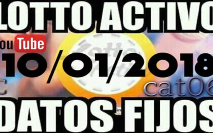 LOTTO ACTIVO DATOS FIJOS PARA GANAR  10/01/2018 cat06