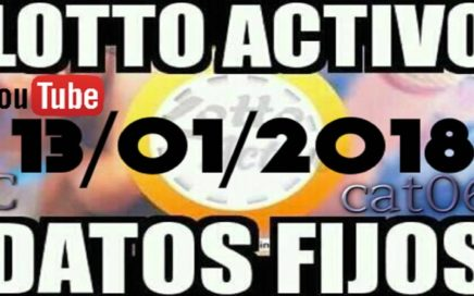 LOTTO ACTIVO DATOS FIJOS PARA GANAR  13/01/2018 cat06