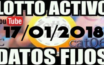 LOTTO ACTIVO DATOS FIJOS PARA GANAR  17/01/2018 cat06