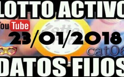 LOTTO ACTIVO DATOS FIJOS PARA GANAR  23/01/2018 cat06