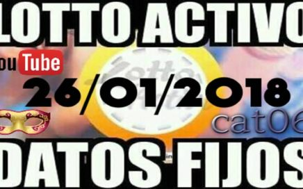 LOTTO ACTIVO DATOS FIJOS PARA GANAR  26/01/2018 cat06