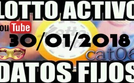 LOTTO ACTIVO DATOS FIJOS PARA GANAR  30/01/2018 cat06