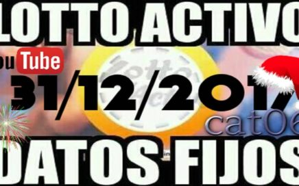LOTTO ACTIVO DATOS FIJOS PARA GANAR  31/12/2017 cat06