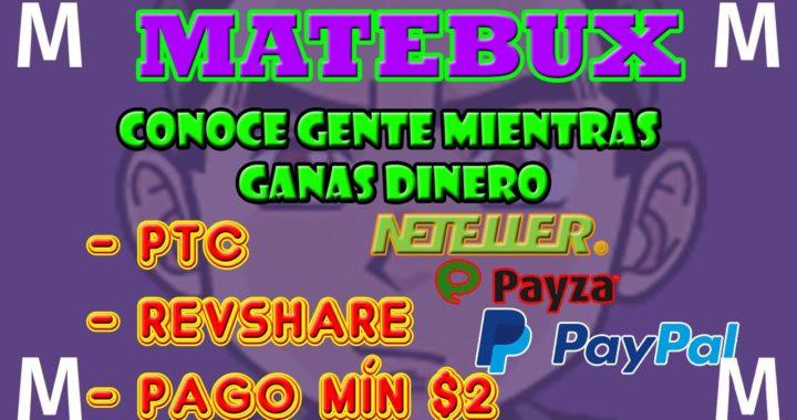 Matebux Como Funciona   Como Ganar Dinero Para Paypal   Matebux Explicación