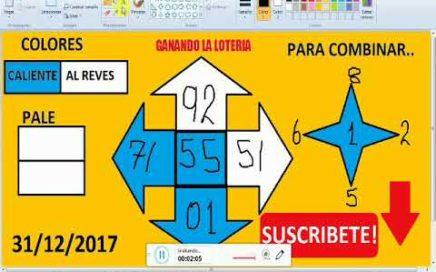 Numeros para GANAR la lOTERIA hoy 31/12/2017---JUEGA Y GANA dinero rapido en la LOTERIAS