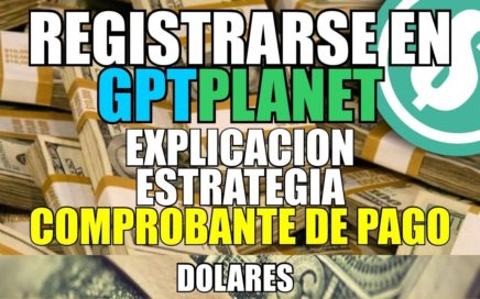 Registrarse en GPTPlanet | Explicacion | Estrategia | Prueba de pago | Gana dinero con publicidad