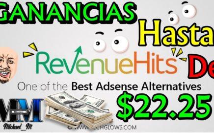 RevenueHits: La mejor plataforma de publicidad  ganar dinero con un blog o página web (Método 2017)