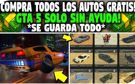 SIN AYUDA - COMPRAR TODO GRATIS *SE GUARDA TODO* FUNCIONA! - GTA 5 1.42 SOLO - TRUCO DE DINERO