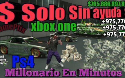 Solo *Sin Ayuda* Dinero infinito  Duplicar autos Gta5 online  100% funcionando Xbox one  ps4