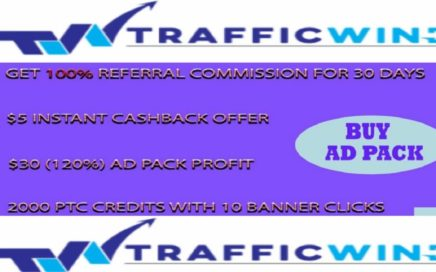 TRAFFICWIND Gana 120 % Por AD PACK - Revshare Daily percent 2.5 % Referral 100% Commissión