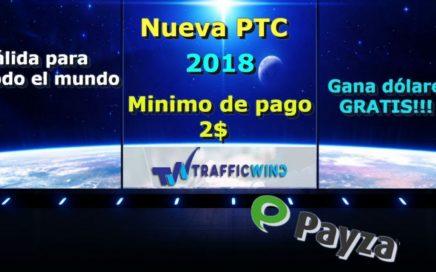TrafficWind|NUEVA pagina para ganar dinero gratis!!! valida para todo el mundo|
