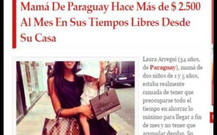 UNA MAMA DE 34 AÑOS GANA 2500 $ TRABAJANDO DESDE SU CASA
