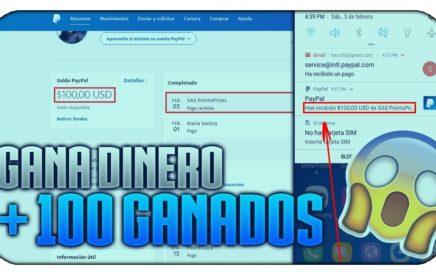 + $100 DOLARES GANADOS |  COMO GANAR DINERO POR INTERNET FEBRERO 2018 [FÁCIL Y RÁPIDO]