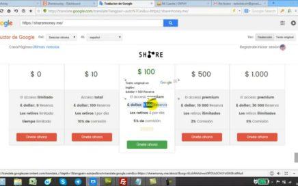 Como Ganar Dinero con Share Money Presentación y Tutorial