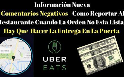 Como Reportar Al Restaurante Cuando La Orden No Esta Lista   Hay Que  Hacer La Entrega En La Puerta