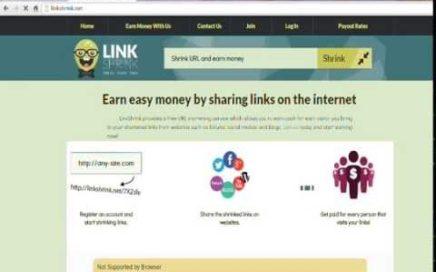 crear cuenta link shrink, empezar a ganar dinero con face/twitter/youtube/etc. de por vida