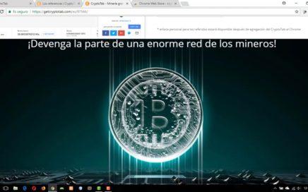 Empieza a ganar dinero desde Google Chrome usando CryptoTab 2018