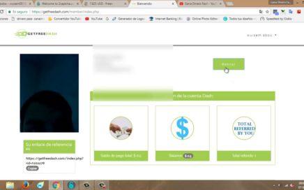 GANA 0.5$ SOLO POR REGISTRARSE EN MONEDA DASH Y RETIRALOS AL INSTANTE